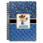 Blue Western Spiral Bound Notebook (Personalized)