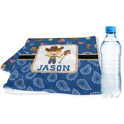 Blue Western Sports & Fitness Towel (Personalized)