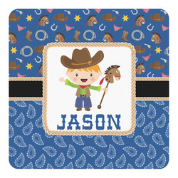 Blue Western Square Decal - Custom Size (Personalized)