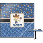 Blue Western Square Table Top (Personalized)