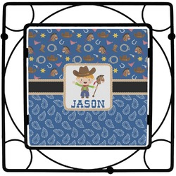 Blue Western Square Trivet (Personalized)