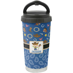 Blue Western Stainless Steel Coffee Tumbler (Personalized)