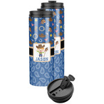 Blue Western Stainless Steel Skinny Tumbler (Personalized)
