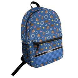 Blue Western Student Backpack (Personalized)