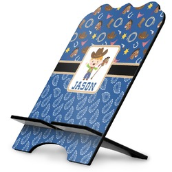 Blue Western Stylized Tablet Stand (Personalized)