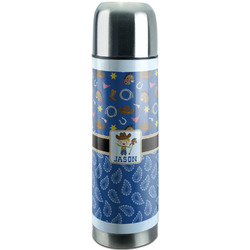 Blue Western Stainless Steel Thermos (Personalized)