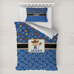 Blue Western Toddler Bedding w/ Name or Text