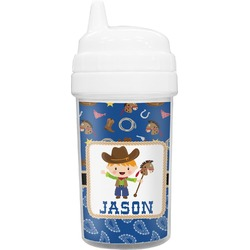 Blue Western Toddler Sippy Cup (Personalized)