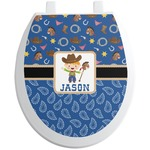 Blue Western Toilet Seat Decal (Personalized)