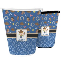 Blue Western Waste Basket (Personalized)