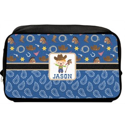 Blue Western Toiletry Bag / Dopp Kit (Personalized)