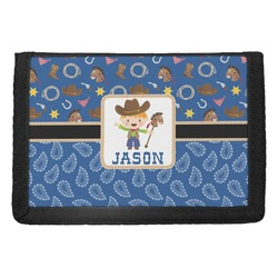 Blue Western Trifold Wallet (Personalized)