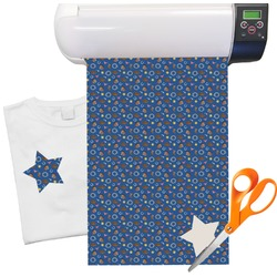 "Blue Western Heat Transfer Vinyl Sheet (12""x18"")"