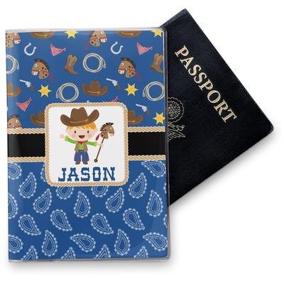Blue Western Vinyl Passport Holder (Personalized)
