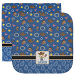 Blue Western Facecloth / Wash Cloth (Personalized)