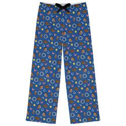 Blue Western Womens Pajama Pants (Personalized)