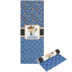Blue Western Yoga Mat - Printable Front and Back (Personalized)