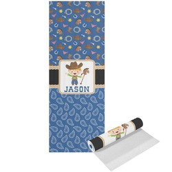 Blue Western Yoga Mat - Printed Front (Personalized)