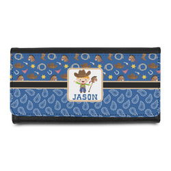 Blue Western Leatherette Ladies Wallet (Personalized)