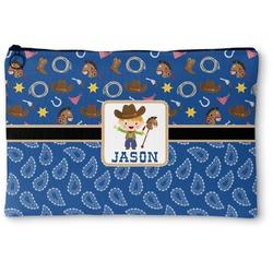 Blue Western Zipper Pouch (Personalized)