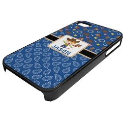 Blue Western Plastic 4/4S iPhone Case (Personalized)