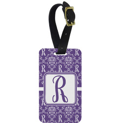 Initial Damask Aluminum Luggage Tag (Personalized)