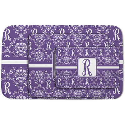 Initial Damask Area Rug (Personalized)
