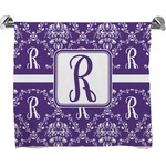 Initial Damask Full Print Bath Towel (Personalized)