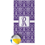 Initial Damask Beach Towel (Personalized)