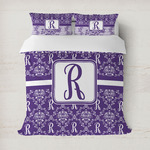Initial Damask Duvet Covers (Personalized)