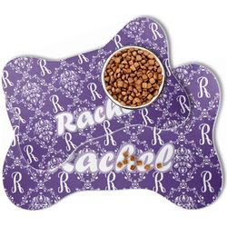Initial Damask Bone Shaped Dog Food Mat (Personalized)