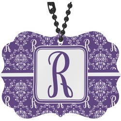 Initial Damask Rear View Mirror Decor (Personalized)