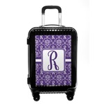 Initial Damask Carry On Hard Shell Suitcase (Personalized)