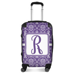 Initial Damask Suitcase (Personalized)