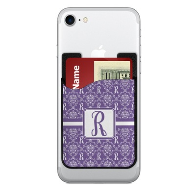 Initial Damask 2-in-1 Cell Phone Credit Card Holder & Screen Cleaner (Personalized)