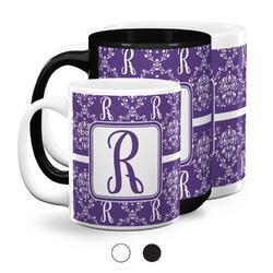 Initial Damask Coffee Mugs