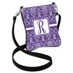 Initial Damask Cross Body Bag - 2 Sizes (Personalized)