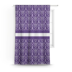 Initial Damask Curtain (Personalized)