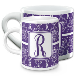 Initial Damask Espresso Cups (Personalized)