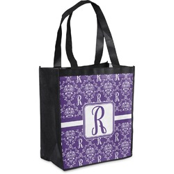 Initial Damask Grocery Bag (Personalized)