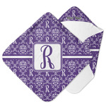 Initial Damask Hooded Baby Towel (Personalized)