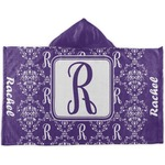Initial Damask Kids Hooded Towel (Personalized)