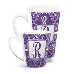 Initial Damask Latte Mug
