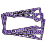 Initial Damask License Plate Frame