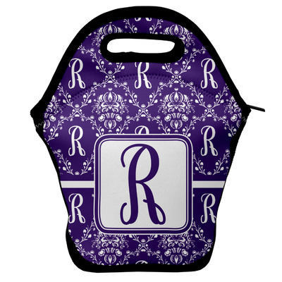 Initial Damask Lunch Bag