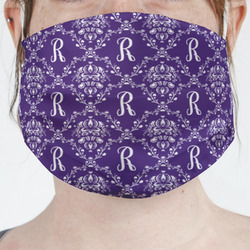 Initial Damask Face Mask Cover (Personalized)