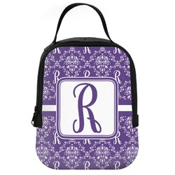 Initial Damask Neoprene Lunch Tote (Personalized)