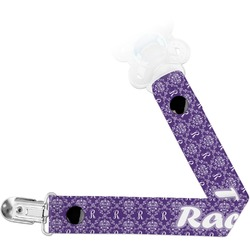 Initial Damask Pacifier Clips (Personalized)