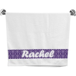 Initial Damask Bath Towel (Personalized)