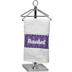 Initial Damask Finger Tip Towel (Personalized)